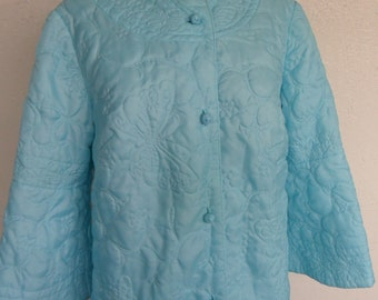 Quilted Brenda Lee Vintage Dressing Gown House Coat