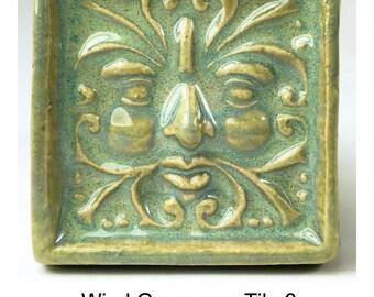 Wind Greenman Tile 3