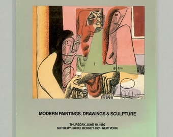 Sotheby Parke Bernet Auction Catalog of Modern Paintings, Drawings, Sculpture. Sale 4398 1980 From the Estate of Utica Artist Easton Pribble