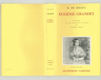 Eugenie Grandet par Honore de Balzac, Introduction by Maurice Allem, Text in French, Classiques Garnier 1961, Vintage Book French Literature