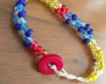 Snow White Inspired Beaded Bracelet