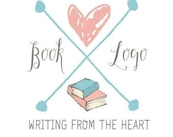 Premade Logo Design, Arrow Logo, Blog Logo, Author Logo, Book Logo, Business Logo, Branding Kit