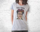Frida Kahlo hand drawn T-shirt-Frida Kahlo tee-Frida Kahlo tank top-quote tee-Valentines gift-college t-shirt-women tee-NATURA PICTA-NPTS093