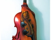 "Violin Silk Scarf. Silk Painted scarves. Cello silk scarf. ETSY. Hand-painted silk scarves. 7""x52"" Viola silk scarf. Music silk scarf."