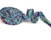 Curated Bloom Patina Double Fold Bias Tape Handmade Bias Tape Half Inch Double Fold Bias Tape, Blue Bias Tape, Bias Trim