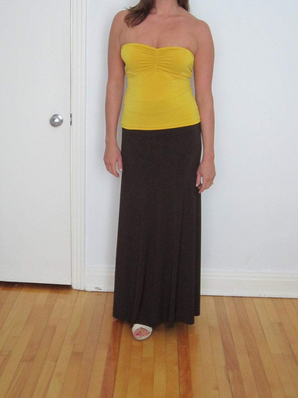 maxi skirt a line maxi floor length skirt spandex knit