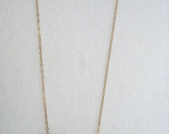14K gold filled necklace with gold bar