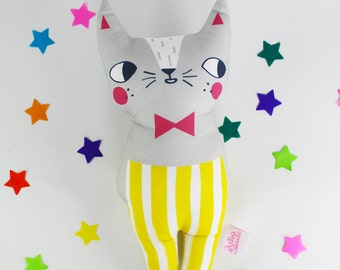 Cat Soft Toy - Confetti Cats Grey Cat Plush Doll