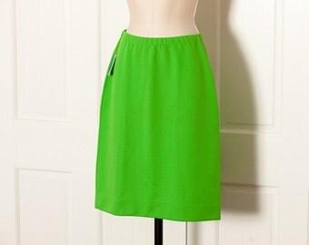 Vintage Bright Green Cute Skirt - 7/8
