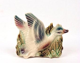 vintage ceramic duck planter // desk organizer