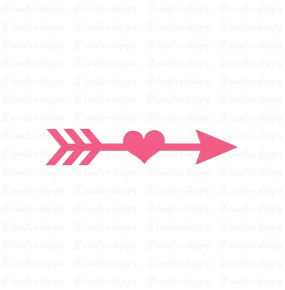 Arrow Svg Arrow Heart Svg Arrow Cutting File Arrow Clipart Svg Files Cricut Cut Files