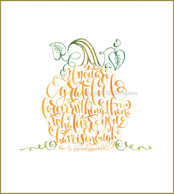 Thanksgiving decoration pumpkin decor thankful quote gratitude for Decoration quotes sayings