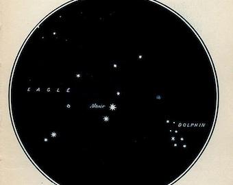 Vintage Edwardian Star Map 20 astronomy print star chart zodiac constellations Celestial Maps
