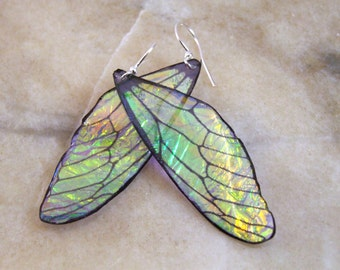 Fairy Wing Resin Earrings