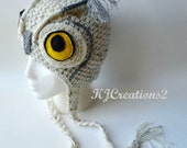 Owl Handmade hat-Baby owl hat-Teen owl hat-Adult owl hat-All sizes available