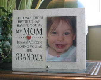 Grandmother Gift (SELECT ANY GRANDMOTHER Name), Grandmother Frame, Grandmother Picture Frame, Grandmother Photo Frame. 4x6 photo, Heart