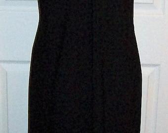 Vintage 1950s Ladies Black Slip w/ Lace Applique Size 38 Only 8 USD