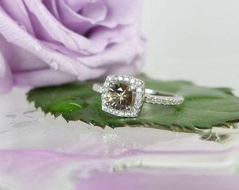 Zircon Ring, Zircon Sterling Ring, Zircon Silver Ring, Halo Gemstone Ring, Halo Ring, Natural Zircon Ring, Gemstone Ring, Natural Zircon