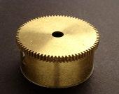 Large Brass Cylinder Gear, Mainspring Barrel from Vintage Clock Movement, Vintage Clockwork Mechanism Parts, Steampunk Art Supplies 03888