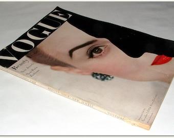 VOGUE MAGAZINE November 1 1944 Erwin Blumenfeld Cover Vintage PARIS Fashions