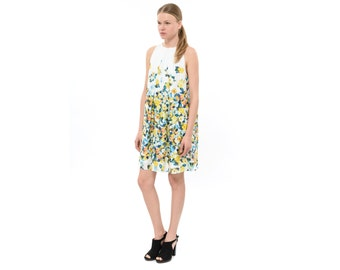 Prom Dres, Pretty Flower Dress,  Printed Dress, Sleeveless Short Floral Dress, Designer Trendy Cocktail Dress for Spring and Summer Fashion