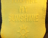 INSTANT DOWNLOAD - You Are My Sunshine Crochet Baby Blanket Pattern - Baby Blanket Pattern - Blanket Pattern