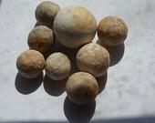 8 Clay Marbles, Vintage --  VP210