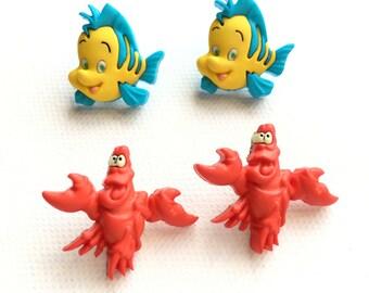 Custom Order for Adrienne - The Little Mermaid Flounder & Sebastian