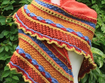 Kokopelli shawl knitting pattern