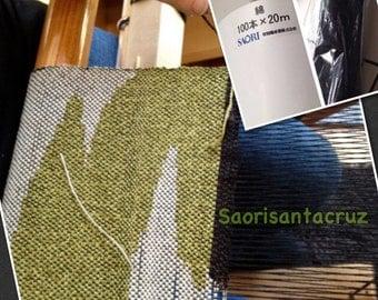SAORI  warp 100x20  Cotton  ready made warp: saorisantacruz
