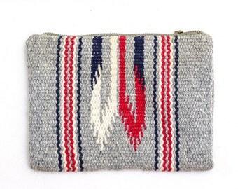 1930s Original Chimayo Purse Hand Woven Southwestern Blanket Wool Clutch Purse