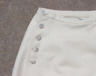 XMAS in JULY SALE : 1940s cream skirt