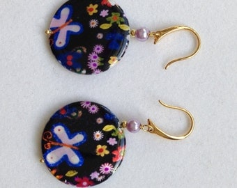 Floral Multicolored Drop Earring