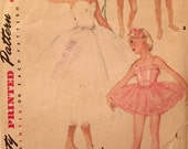 "Vintage 1954 Simplicity Girls' Ballet Costume Pattern 4863 Size 8 (26"" Chest)"