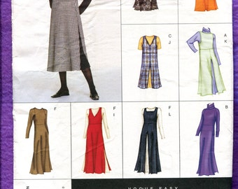 Vogue 2380 Jumper Dress Tunic  with Neckline Variations Size 6  8  10 UNCUT