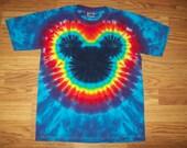 Tie Dye Mickey, S M L xl 2x 3x 4x 5x 6x, Kids, Adult, Plus Size tie dye Shirt, Mouse tie dye Cool Blues