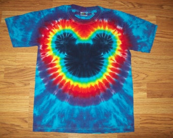 Tie Dye Mickey, S M L xl 2x 3x 4x 5x 6x, Kids, Adult, Plus Size tie dye Shirt, Mouse tie dye Cool Blues