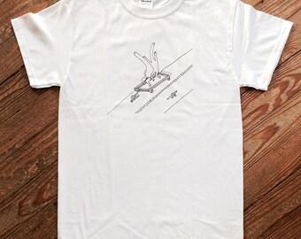The Drive, hand screen-printed t-shirt