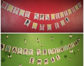 HOGWARTS House Themed Birthday Banner - HARRY POTTER - Gryffindor, Slytherin, Hufflepuff or Ravenclaw Personalized Birthday Party Banner