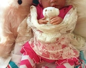 From the Biracial Shyann Kit  Reborn Baby Doll 19 inch Baby Girl Crystal Complete Doll