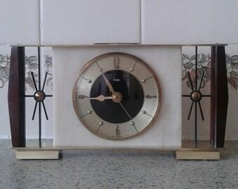 Metamec Shelf Clock - Recycled Mantel Shelf - Railway Presentation Clock