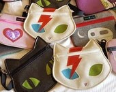 Roller Derby Bowie Cat Fanny Pack / Bumbag / Crossbody bag