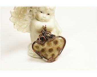 Petoskey Stone Jewelry / Petoskey Stone Necklace / Michigan Petoskey Stone