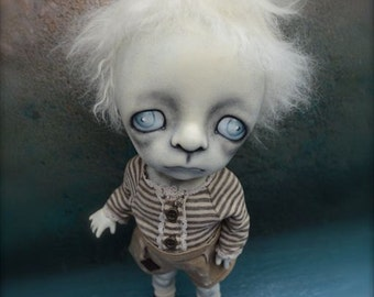 Giclee Fine Art Print. Dark Alley BJD Art Doll.