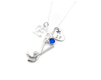 Field Hockey Necklace, Field Hockey Gift, Field Hockey Jewelry, Gifts for Field Hockey, Field Hockey Player, Field Hockey Team Gift