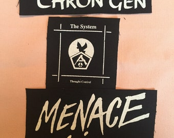 Chron Gen, The System, and Menace black canvas patches