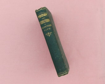 "Antique book, ""Lights and Shadows of Scottish Life"", book of short stories by Scottish author John Wilson dated 1867, Scottish literature"