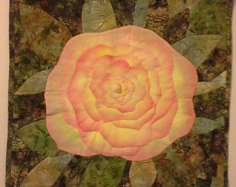 Applique Rose Wall Quilt
