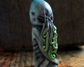 Cthulhu polymer clay chess piece/bust