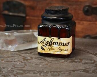 Natural solid perfume - A'GLIMMER - organic essential oil botnaical perfume